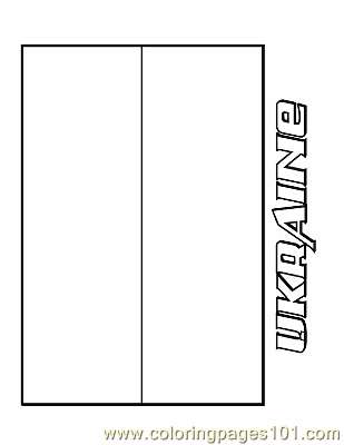 Ukraine Coloring Page Free Flags Coloring Pages