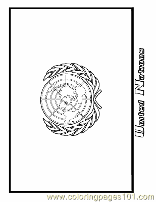 United Nations Coloring Page