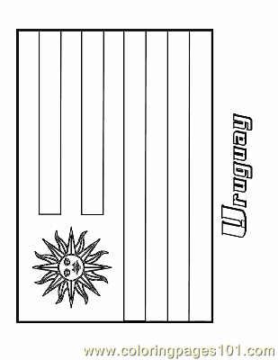 Uruguay Coloring Page Free Flags Coloring Pages Uruguay Flag Coloring Page