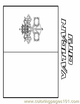 Vatican City Coloring Page