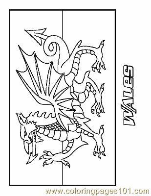 Wales Coloring Page Free Flags Coloring Pages