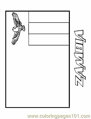 Zambia Coloring Page Free Flags Coloring Pages Zambia Flag Coloring Page