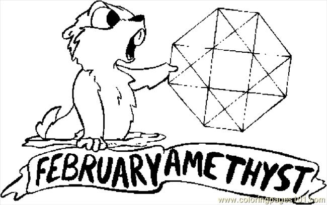02 February   Amethyst Coloring Page