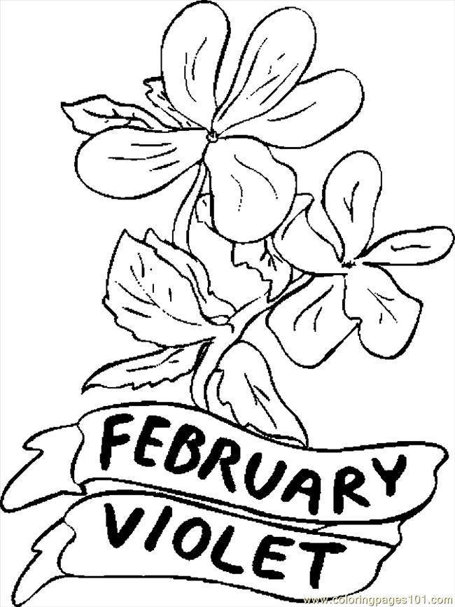 02 February Violet 1 Coloring Page