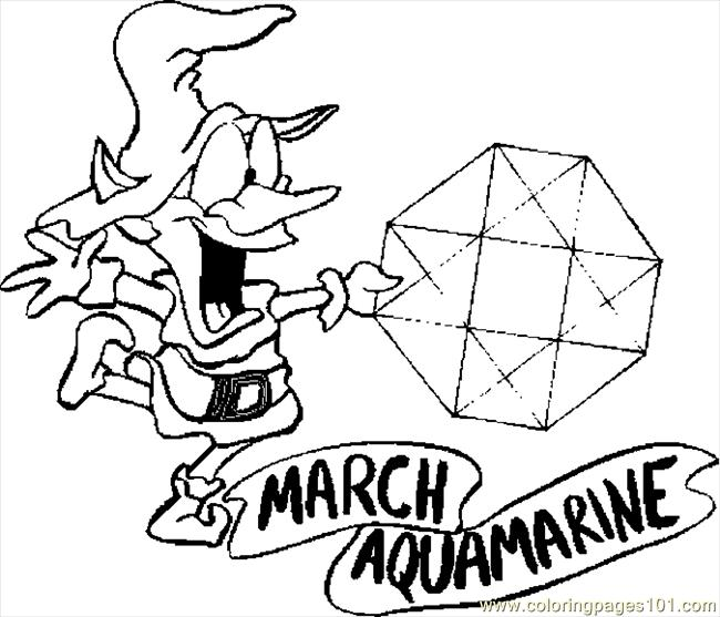 03 March   Aquamarine Coloring Page