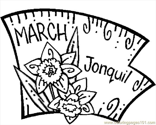 03 March   Jonquil 1 Coloring Page