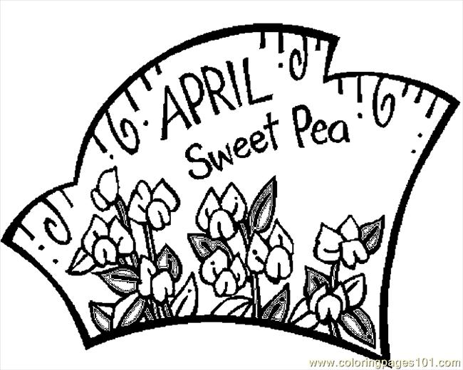 04 April   Sweet Pea 1 Coloring Page
