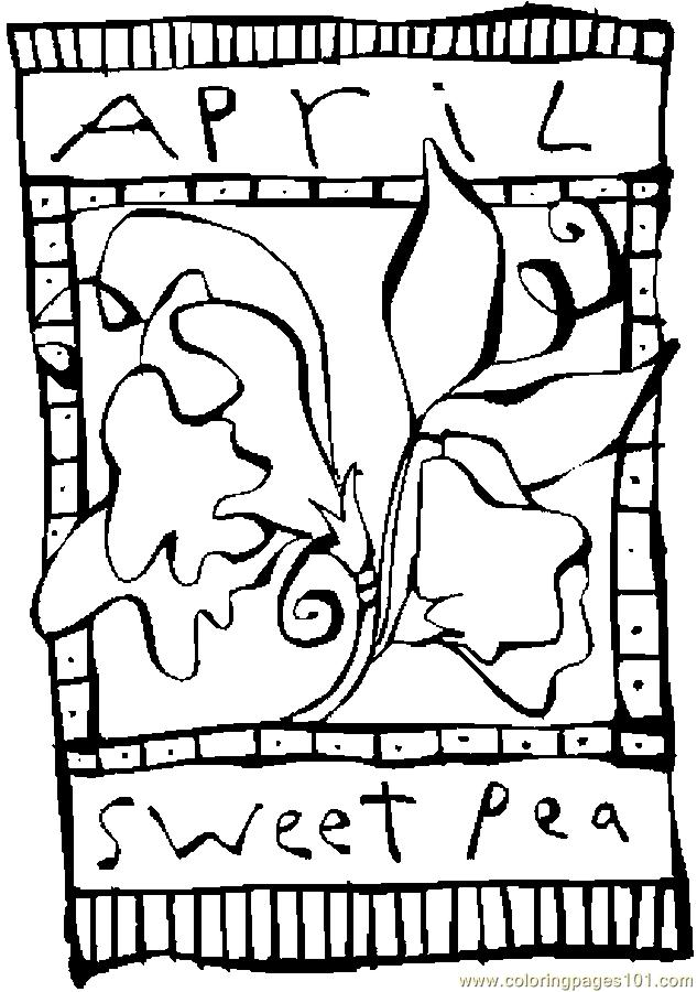04 April   Sweet Pea 2 Coloring Page