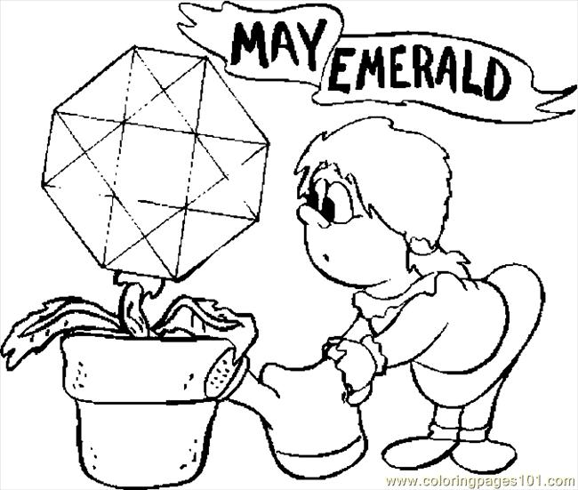 05 May   Emerald Coloring Page