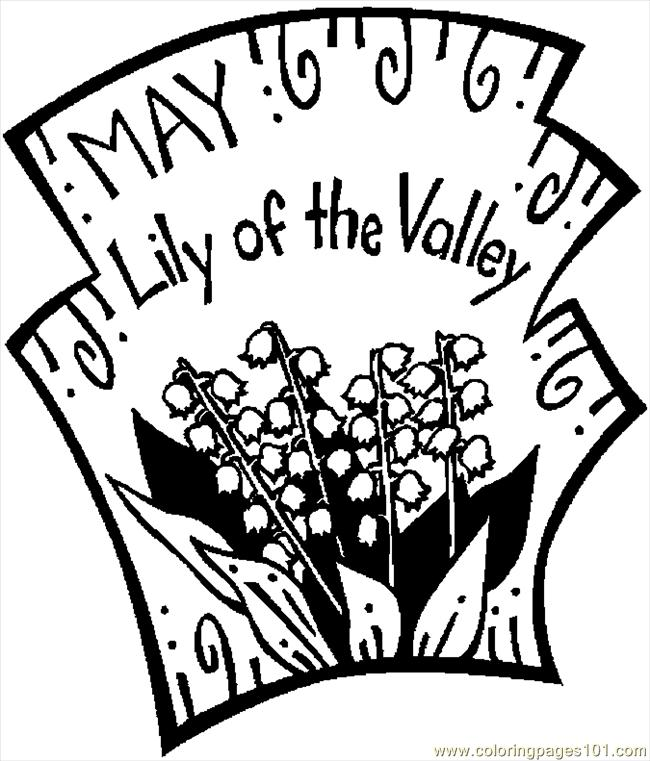 05 May   Lily Of Valley 2 Coloring Page