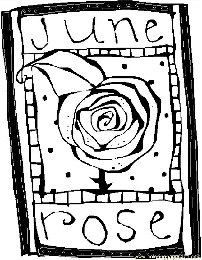 06 June   Rose 3 Coloring Page