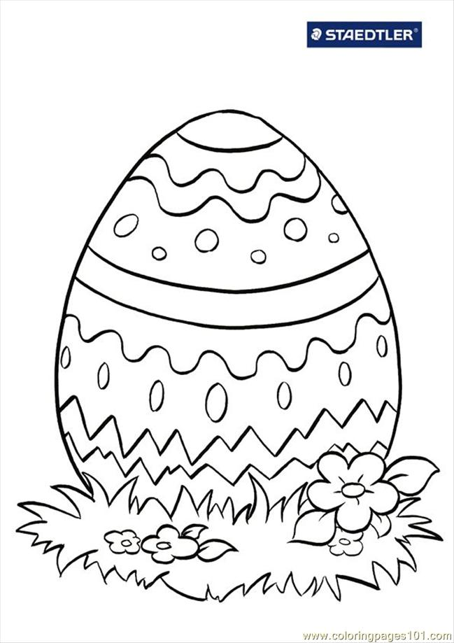 Colouring Page Easter Egg 712 Coloring
