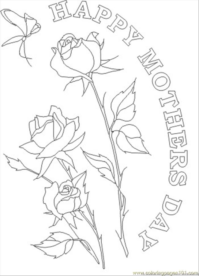 Hers Day Flower Coloring Page Coloring Page