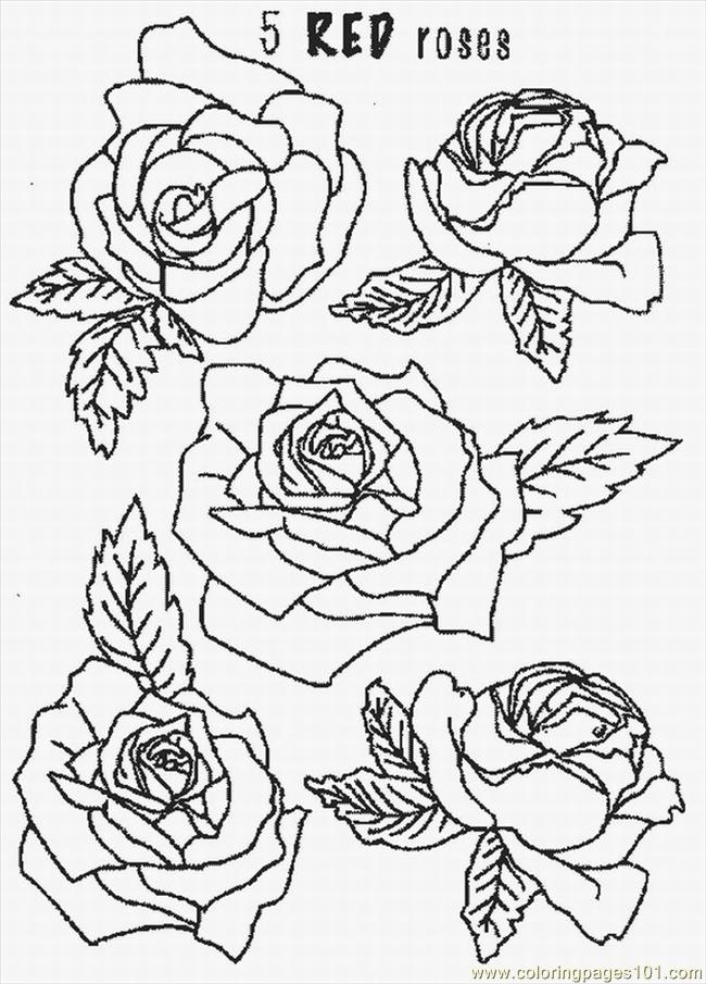 Istic Rose Lrg Coloring Page