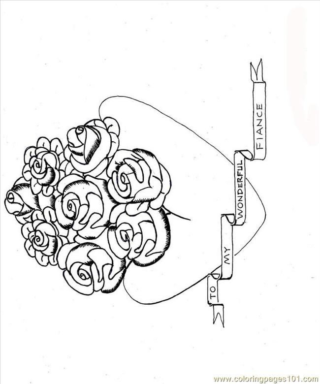 Ng Pages 5 Heart Flowers Full Coloring Page