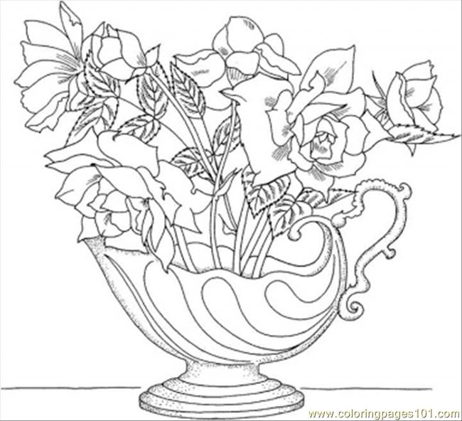 On Nice Roses  Coloring Page
