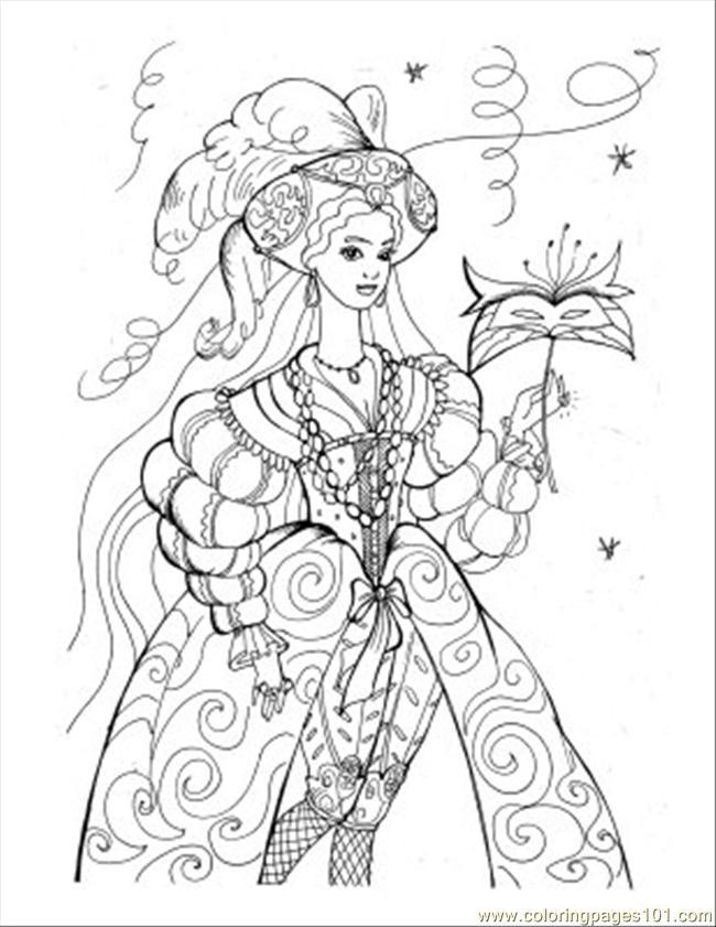 Princess Coloring Pages 28 Coloring Page - Free Flowers Coloring ...