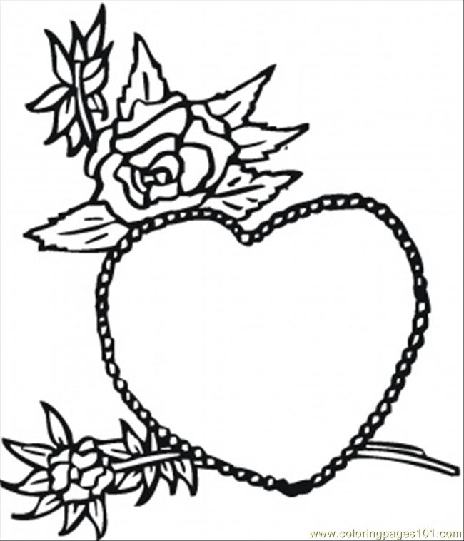 roses coloring pages hearts and roses coloring pages how to draw a ... | 758x650