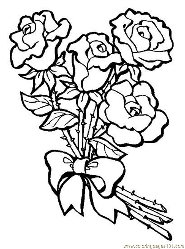 S Bouquet Of Roses.preview Coloring Page