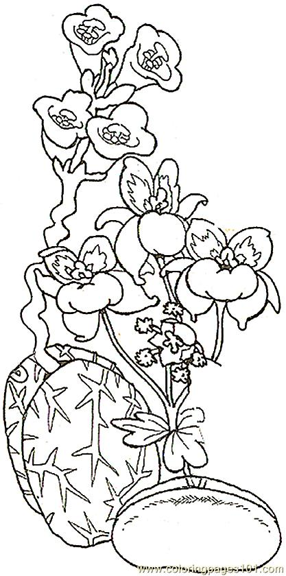 Space Flower Detail2 Reverse Coloring Page