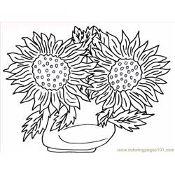 11 Flower Coloring Pages Free Coloring Page for Kids