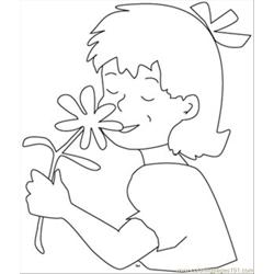 7679girl Flower Coloring Page Free Coloring Page for Kids