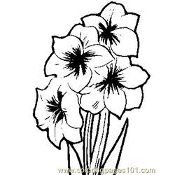 Flower (2) coloring page