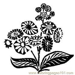Flower (4) coloring page