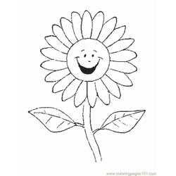 Flower Picture (5) Free Coloring Page for Kids