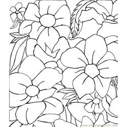 Flower Picture Free Coloring Page for Kids
