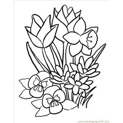 Springblooms Big Free Coloring Page for Kids