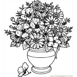 Vase Of Wild Flowers.svg.hi Free Coloring Page for Kids
