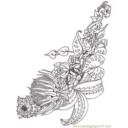 Coloring Horizontal Bromeliad Reverse coloring page