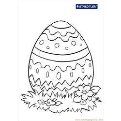 Colouring Page Easter Egg 712
