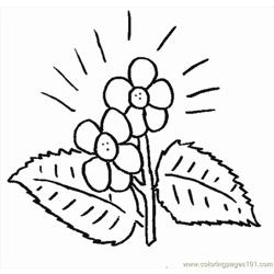 Flower3 Free Coloring Page for Kids