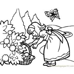 Girl Hunting3 coloring page