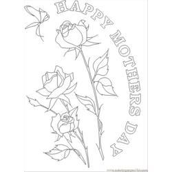 Hers Day Flower Coloring Page