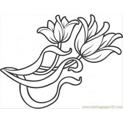 Oration Flowers Coloring Page
