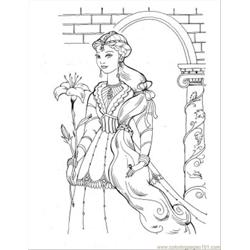 Princess Coloring Pages 27 Free Coloring Page for Kids