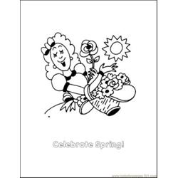 Spring2 Free Coloring Page for Kids