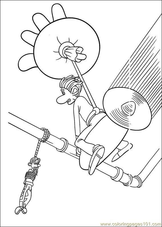 flushed away coloring pages - photo#17