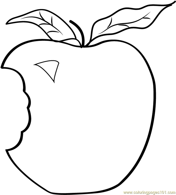 Applie Bite Coloring Page