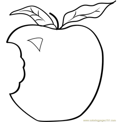 Applie-Bite Free Coloring Page for Kids
