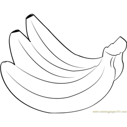 Bananas Free Coloring Page for Kids