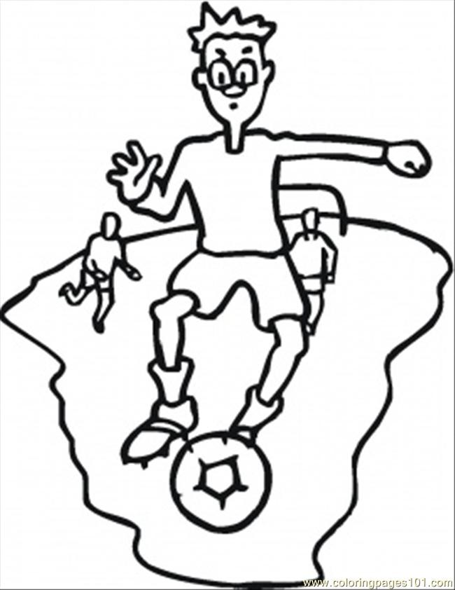 Foorball Coloring Page