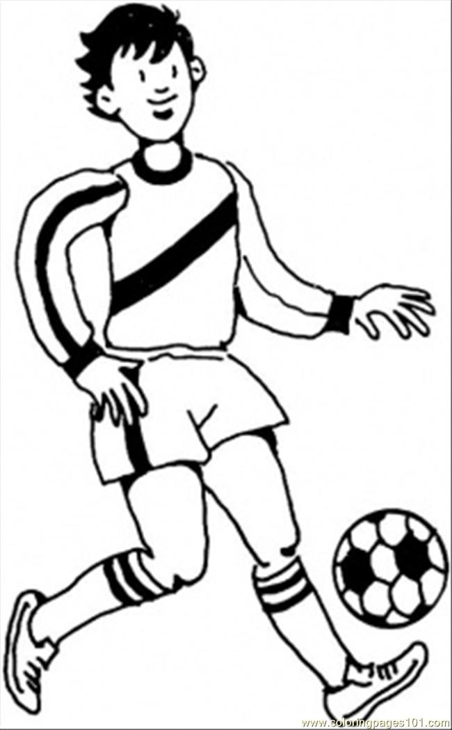 Footballer Coloring Page