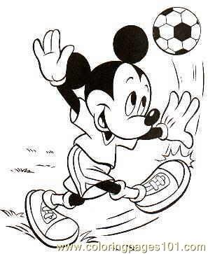 mickey mouse football coloring pages 7 com coloring page - Mickey Coloring Pages