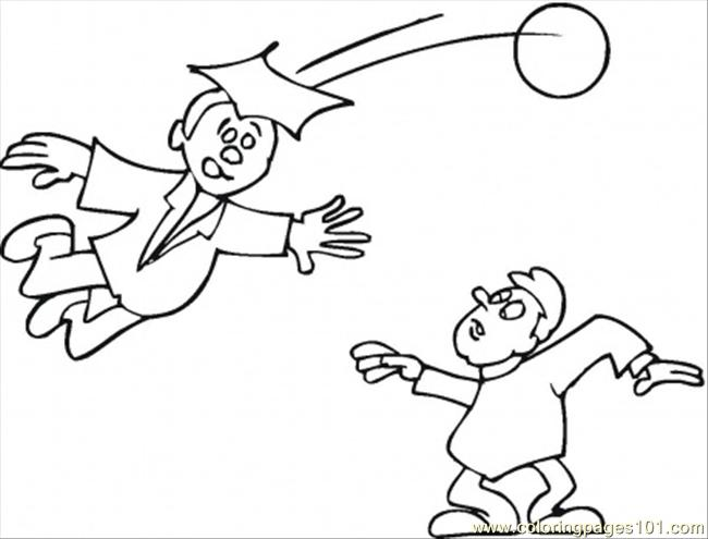 Students Are Playing Football Coloring Page