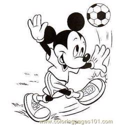 Mickey Mouse Football Coloring Pages 7 Com