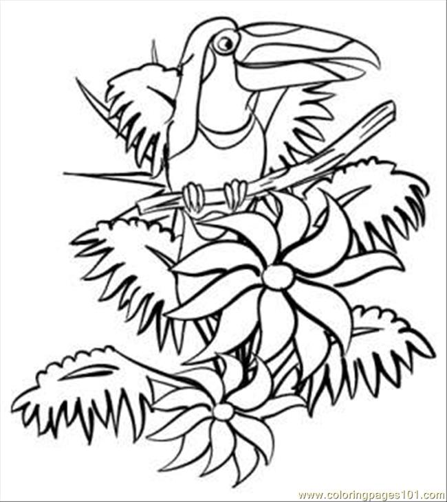 In The Jungle Coloring Page